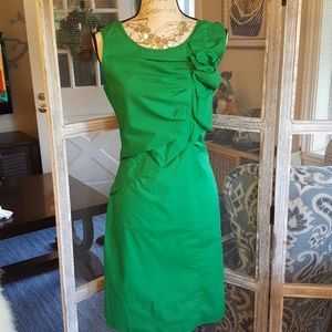 Ellen Tracy Ruffle Trim Dress